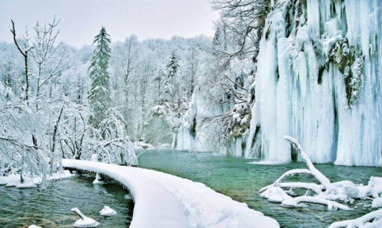 Winter in Plitvice Lakes Etno Garden cover