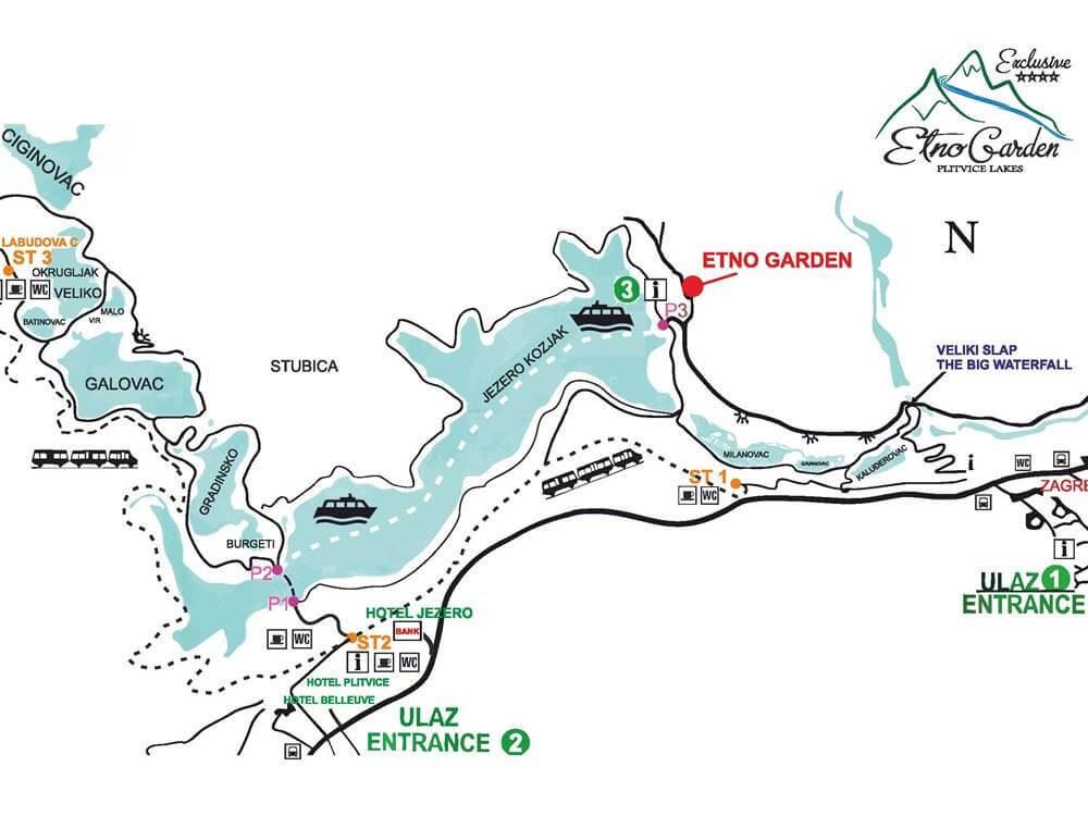 Plitvička Jezera ultimativni vodič 2021 Karta i rute